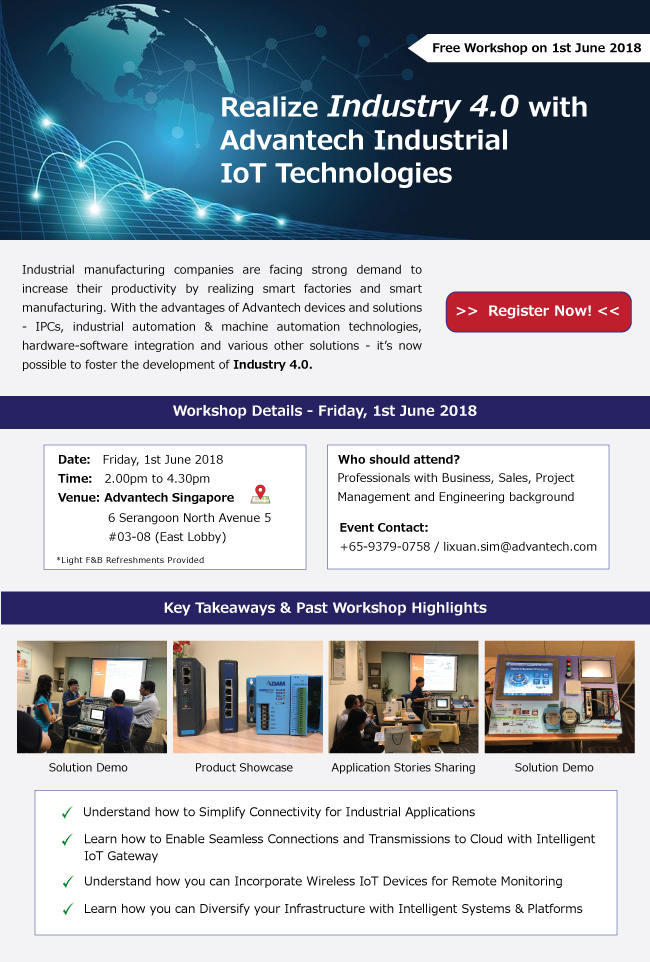 Realize Industry 4 0 with Advantech Industrial IoT Technologies