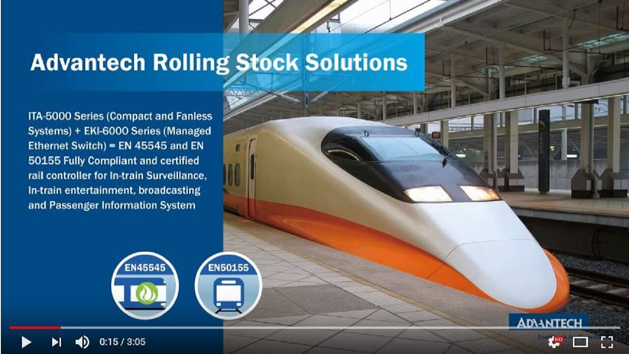 EN50155 Solutions for Rolling Stock, Advantech (EN)