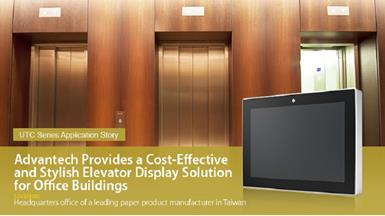 Cost-Effective and Stylish Elevator Display Solution for Office Buildings