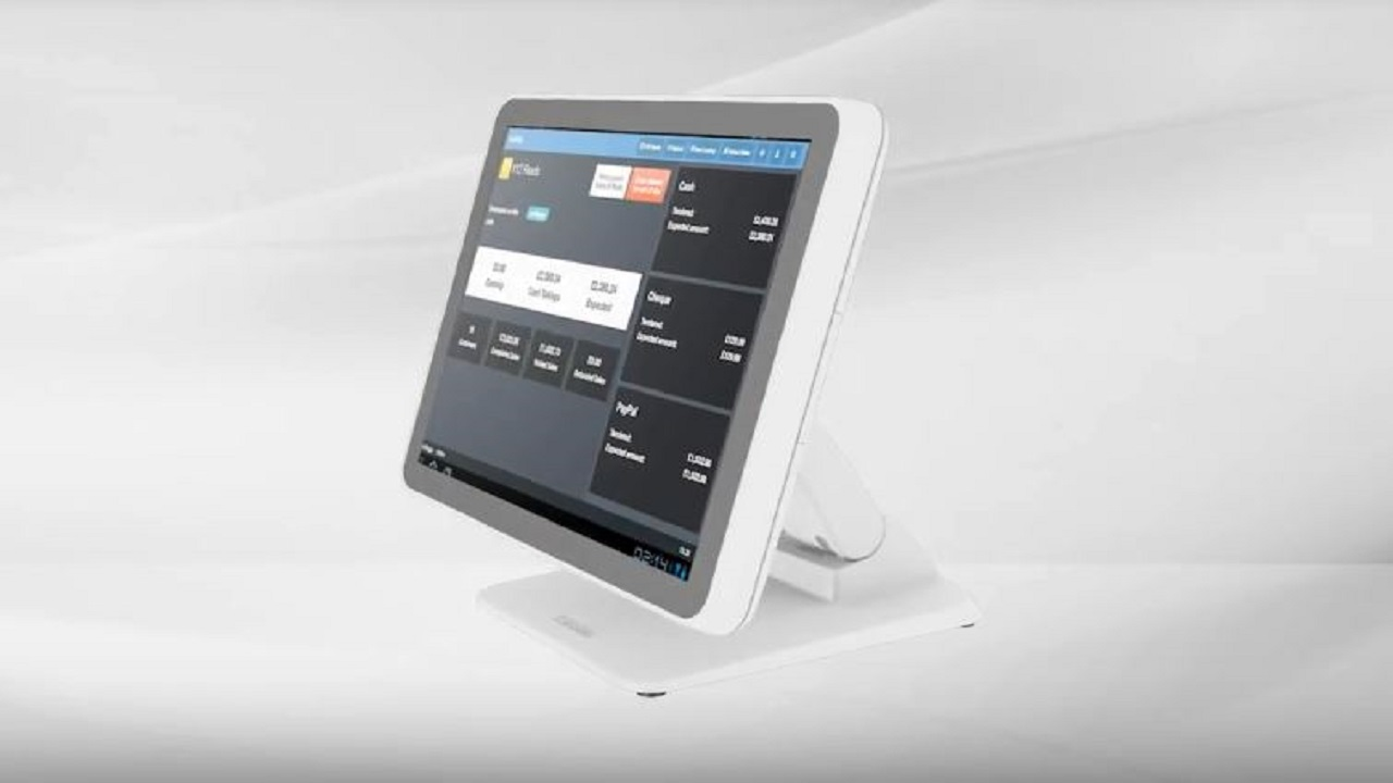 "UPOS-211 series: 15"" Compact AiO POS System with Dual-Hinge Stand"