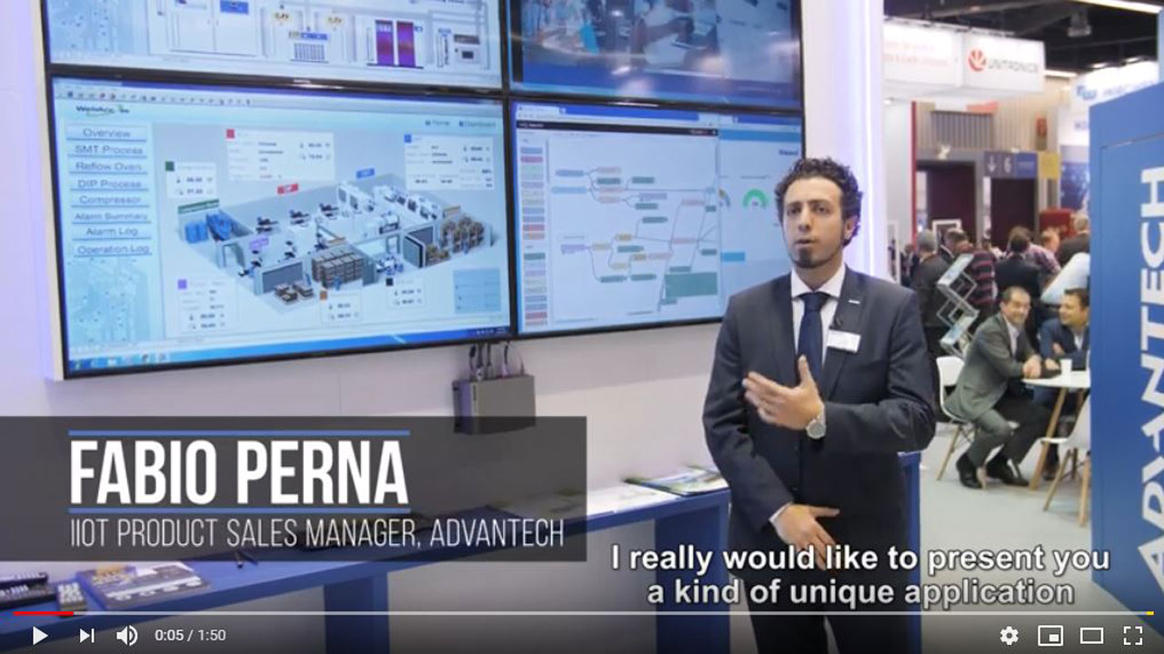 Advantech Shop Floor Control Room solution @ SPS 2018