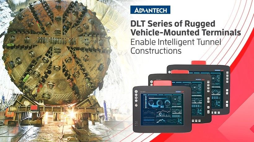 Advantech's DLT Series of Rugged Vehicle-Mounted Terminals Enable Intelligent Tunnel Constructions