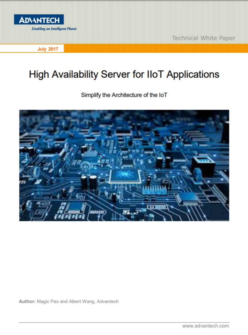 High Availability Server for IIoT Applications