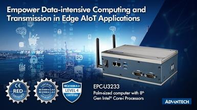 Advantech Launches EPC-U3233 Compact Computer with 8th Gen Intel Core-i Processors for Edge AIoT Applications