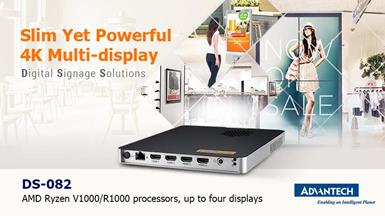 Advantech Launches Slim and Powerful DS-082   4K Digital Signage Player