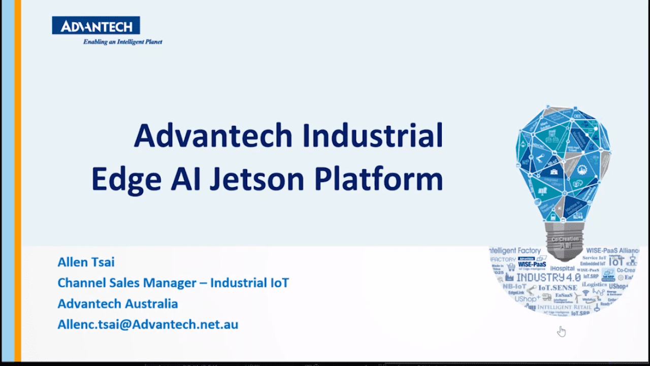 [Webinar] Advantech Industrial Edge AI Jetson Platform- English @Australia