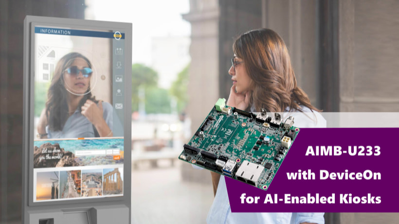 AIMB-U233 with DeviceOn for AI-Enabled Kiosks