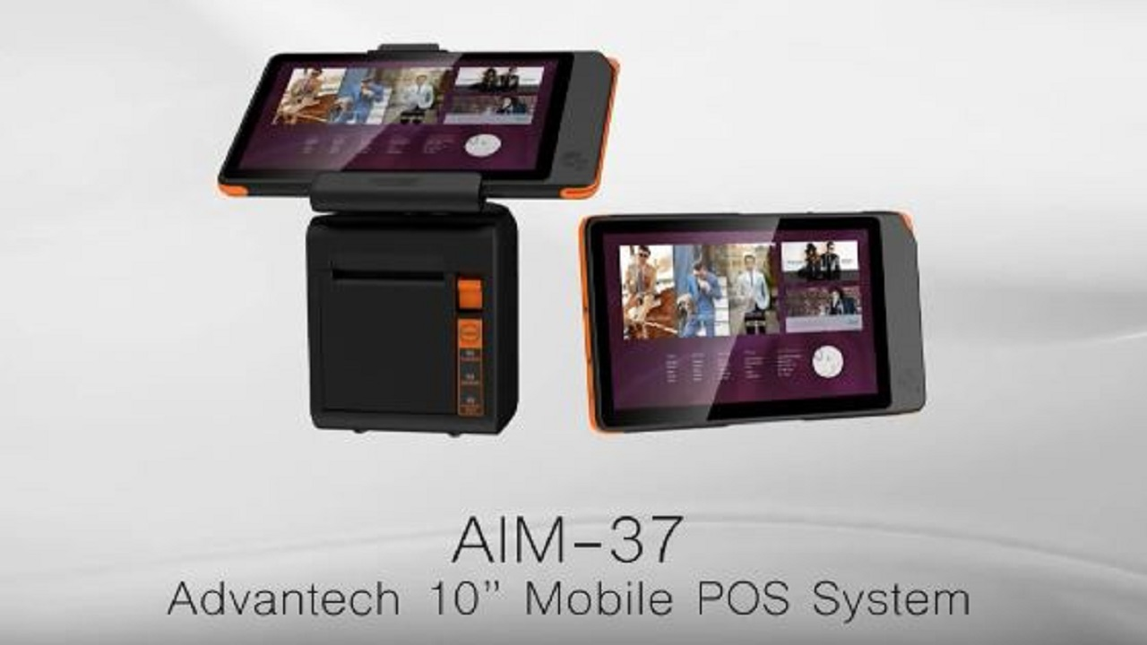 "Advantech 10"" Mobile Tablet POS System (2017)"