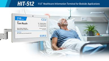 Advantech Launches HIT-512 Medical-Grade Information Terminal for Bedside Applications