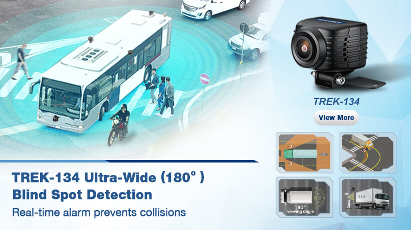 TREK-134 Ultra-Wide 180° Blind Spot Detection