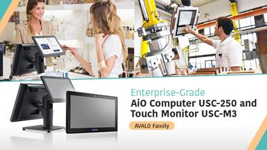 【Advantech Launches AVALO Series】The Enterprise-Grade Computer USC-250 and Touch Monitor USC-M3 for Diverse Applications