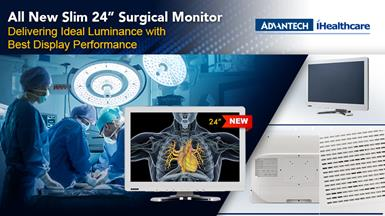 "Advantech Kostec Launches 24"" PAX-324 Medical Grade Surgical Monitor"