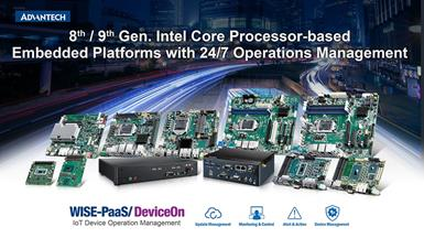 Advantech Launches the Latest Intel Core Processor-Based Embedded Platforms with 24/7 Operations Management for AIoT