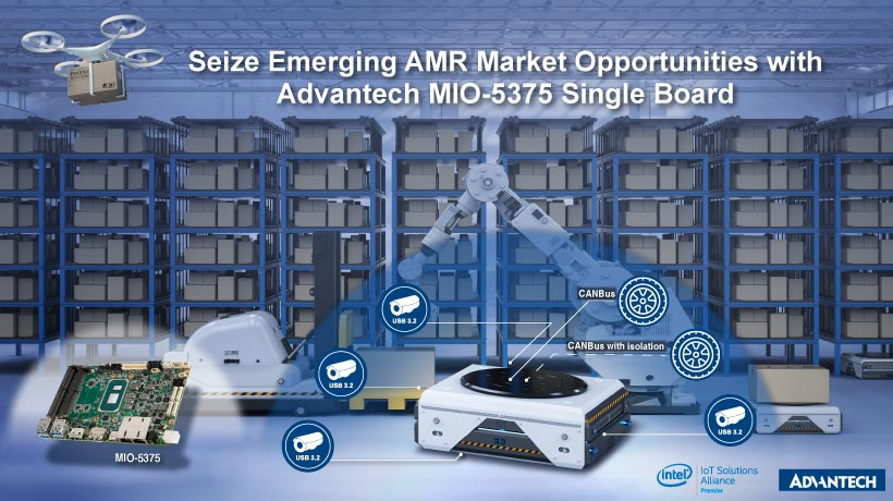 Seize Emerging AMR Market Opportunities with Advantech's SBC MIO-5375