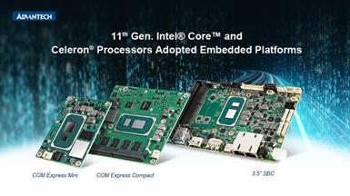Advantech Launches Embedded Platforms with 11th Gen. Intel® Core™ and Intel® Celeron® Processors