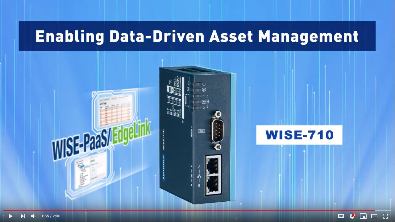 Enabling Data-Driven Asset Management, WISE-710, Advantech(EN)