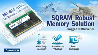 Advantech SQRAM Releases Robust Memory Solution for Military and Transportation Applications