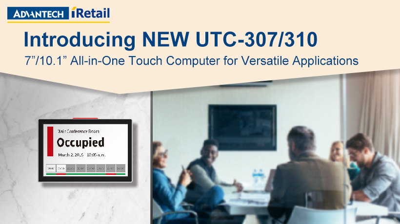 Advantech launches UTC-307/310 All-in-One Touch Computers