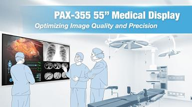 "Advantech Launches PAX-355 – 55"" Medical-Grade Surgical Monitor for Medical Imaging Applications"