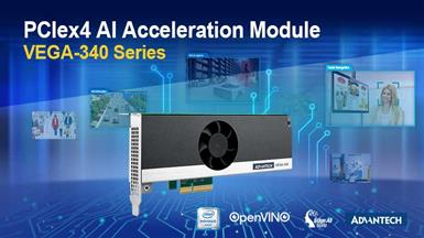 Advantech Launches VEGA-340 Powerful Edge AI Acceleration Module for Versatile AI and Vision Analytics Applications