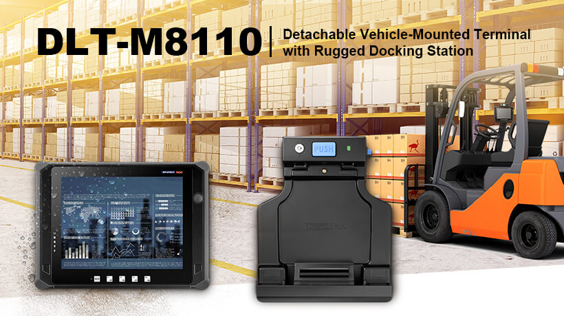 DLT-M8110 Detachable Vehicle-Mounted Terminal with Rugged Docking Station