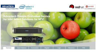Advantech's verified Intel Select Solutions for NFVI now Available for Remote Evaluation