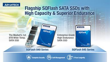 Advantech Releases 8TB SATA SSD with Wide-Temperature Support and Enterprise-Grade SATA SSD