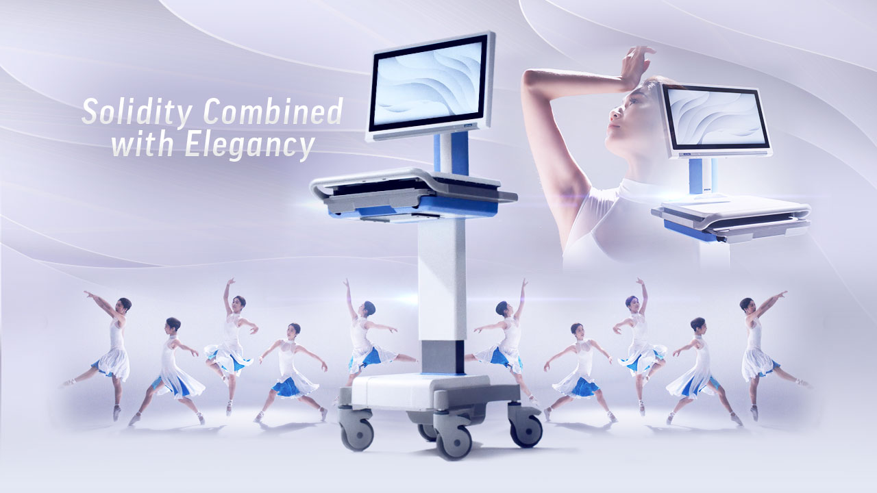 Optimized AMiS-50E Medical Cart: Reliable yet Elegant