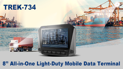 TREK-734 8'' All-in-One Light-Duty Mobile Data Terminal