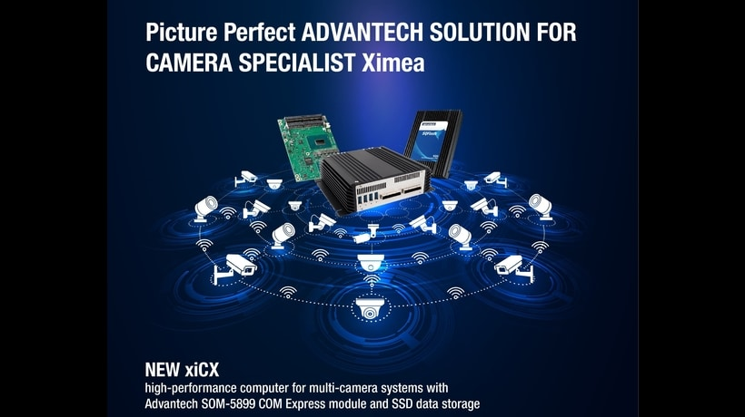 Picture-Perfect! XIMEA,the world's leading Camera Specialist leverages Advantech's COM Express® Modules & SSD Data Storage for Scientific Cameras.
