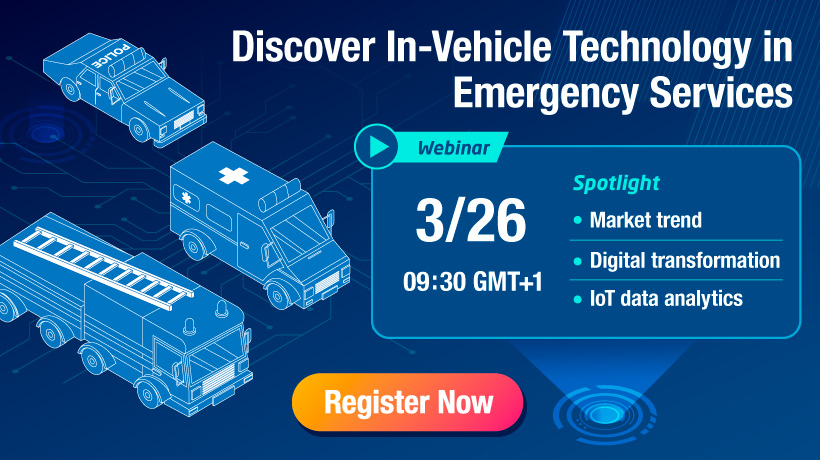 【Webinar】Discover In-Vehicle Technology in Emergency Services