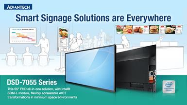 Advantech Launches Ultra-Slim DSD-7055 Display Solution for Signage Applications
