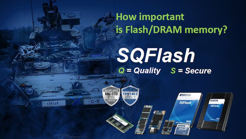 Industrial Flash/DRAM with  Military-grade Data Security