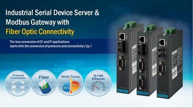 Advantech Launches Device Servers and Modbus Gateways with Fiber Optic Ports