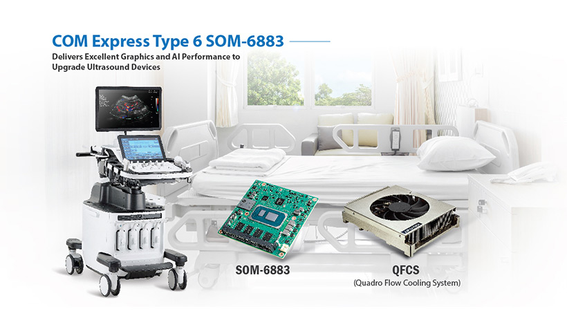 Advantech's COM Express Type 6 SOM-6883  Delivers Excellent Graphics and AI Performance to Ultrasound Devices