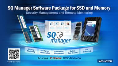 Advantech Releases SQ Manager Software Package for SSD and Memory Remote Monitoring and Security Management
