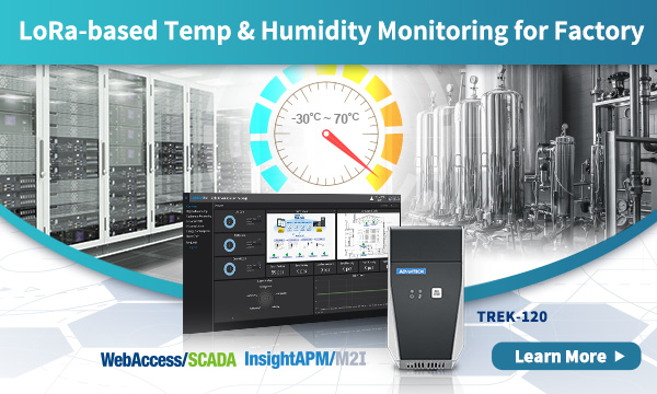 TREK-120 LoRa-based Temp & Humidity Monitoring for Factory