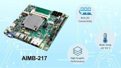 Advantech Launches AIMB-217 THIN Mini-ITX with Extended Temp Support