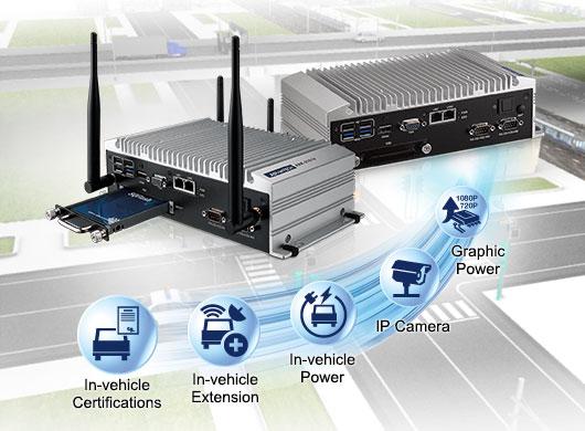 in vehicle surveillance fanless embedded computers advantech