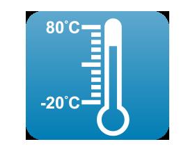 ワイドな温度設計