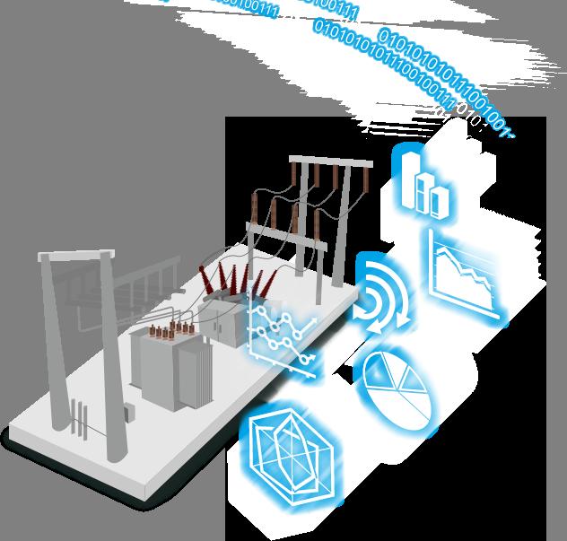A estrutura de uma subestação inteligente pode ser dividida em três níveis diferentes: Nível Estação, Nível de Bay e Nível Processo.